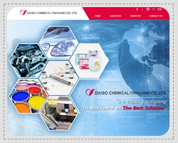 Portfolio: Website for corporate, e-business, e-commerce. Daiso Chemical (Thailand) Co., Ltd.