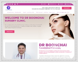 Portfolio: Website for corporate, e-business, e-commerce. Dr. Boonchai