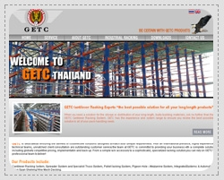 Portfolio: Website for corporate, e-business, e-commerce. GETC (THAILAND) LTD.